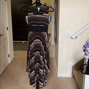 Black and Tan striped dress